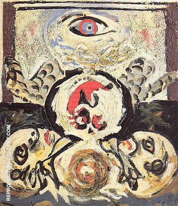 Reproduction of Bird 1941 by Jackson Pollock | Oil Painting Replica On CanvasReproduction Gallery