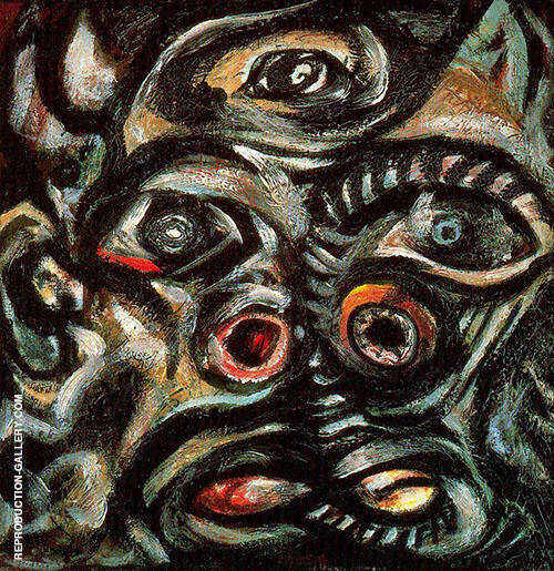 Head x1938 Painting By Jackson Pollock - Reproduction Gallery
