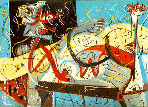 Reproduction of Stenographic Figure 1942 by Jackson Pollock | Oil Painting Replica On CanvasReproduction Gallery