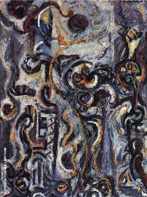 The Mad Moon Woman 1941 By Jackson Pollock Replica Paintings on Canvas - Reproduction Gallery