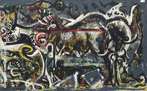 The She Wolf 1943 By Jackson Pollock