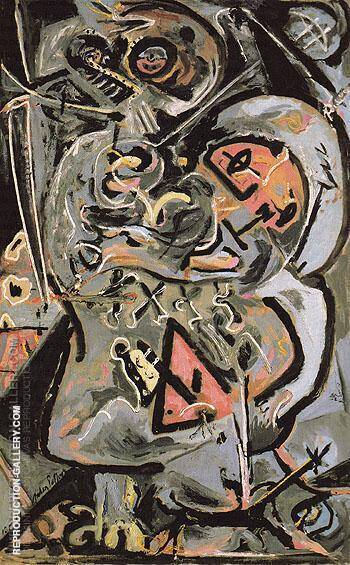 Totem Lesson I 1944 By Jackson Pollock - Oil Paintings & Art Reproductions - Reproduction Gallery