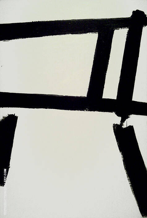 White Forms 1955 By Franz Kline Replica Paintings on Canvas - Reproduction Gallery