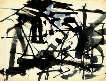 48 Series No 4 1948 By Franz Kline Replica Paintings on Canvas - Reproduction Gallery