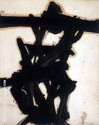 Black and White 1954 By Franz Kline Replica Paintings on Canvas - Reproduction Gallery