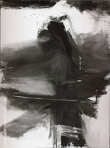 Black White and Gray 1959 By Franz Kline