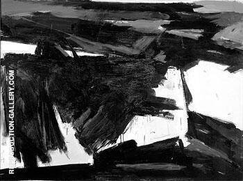 Reproduction of Delaware Gap 1958 by Franz Kline | Oil Painting Replica On CanvasReproduction Gallery