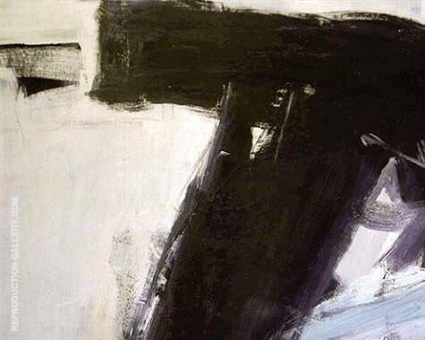 Heaume 1958 By Franz Kline Replica Paintings on Canvas - Reproduction Gallery