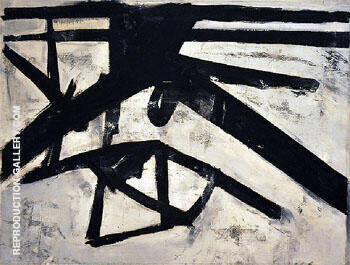 High Street 1950 By Franz Kline - Oil Paintings & Art Reproductions - Reproduction Gallery