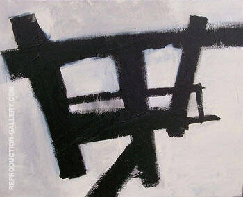 Homage Study I By Franz Kline Replica Paintings on Canvas - Reproduction Gallery