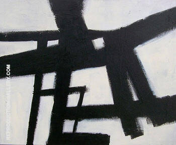 Homage Study II By Franz Kline - Oil Paintings & Art Reproductions - Reproduction Gallery