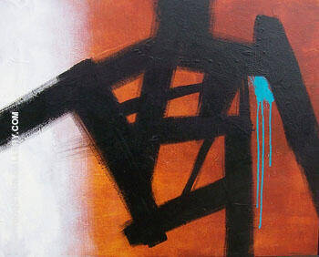 Homage Study III By Franz Kline Replica Paintings on Canvas - Reproduction Gallery