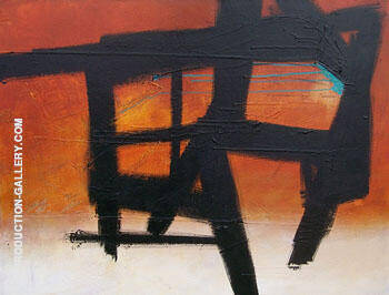 Homage Study IV By Franz Kline Replica Paintings on Canvas - Reproduction Gallery