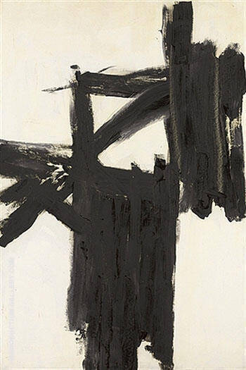 Mars Black and White 1959 By Franz Kline - Oil Paintings & Art Reproductions - Reproduction Gallery