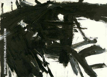 Siskind 1958 By Franz Kline - Oil Paintings & Art Reproductions - Reproduction Gallery