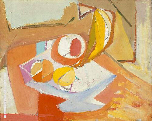 Still Life Fruit 1946 By Franz Kline Replica Paintings on Canvas - Reproduction Gallery