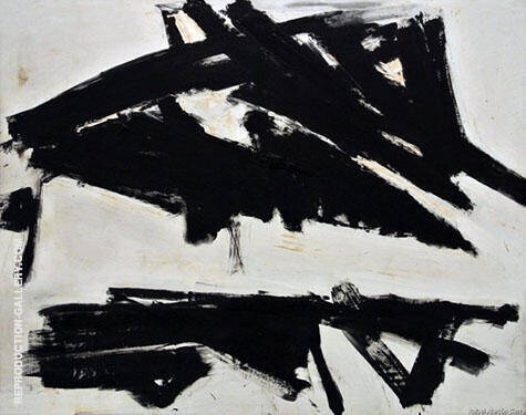 Reproduction of Andes 1957 by Franz Kline | Oil Painting Replica On CanvasReproduction Gallery
