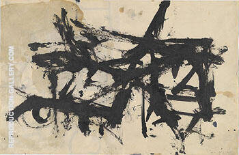 Reproduction of Untitled 1947 by Franz Kline | Oil Painting Replica On CanvasReproduction Gallery