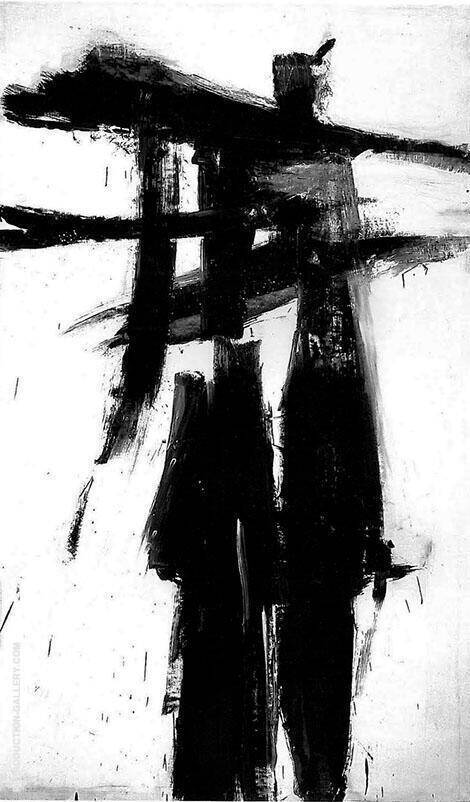 Reproduction of Untitled 1956 A by Franz Kline | Oil Painting Replica On CanvasReproduction Gallery