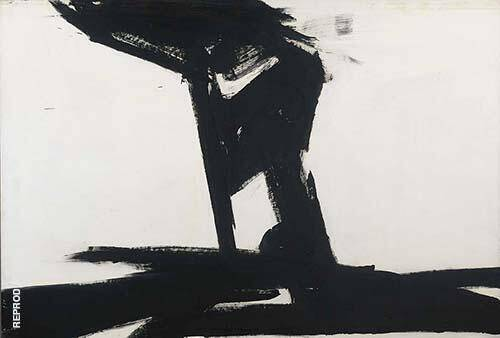 Untitled 1961 By Franz Kline Replica Paintings on Canvas - Reproduction Gallery
