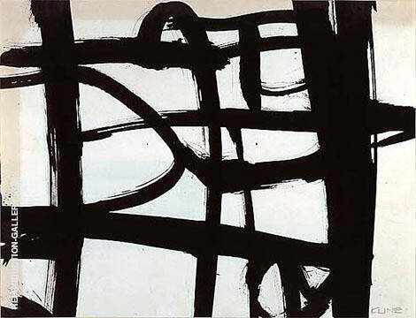 Untitled 1952 A By Franz Kline - Oil Paintings, Reproduction Art