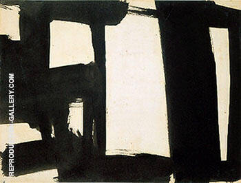 Untitled 1953 A By Franz Kline Replica Paintings on Canvas - Reproduction Gallery