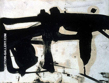 Untitled A 3060 By Franz Kline Replica Paintings on Canvas - Reproduction Gallery
