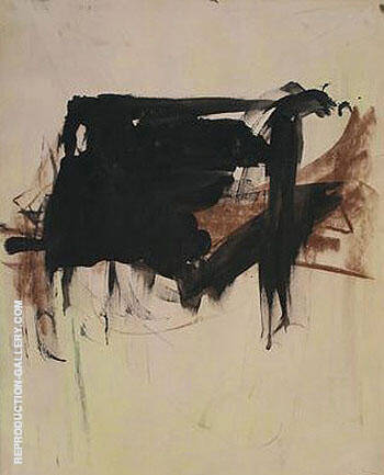 Untitled c1957 By Franz Kline - Oil Paintings & Art Reproductions - Reproduction Gallery