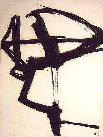 Untitled c1958 By Franz Kline - Oil Paintings & Art Reproductions - Reproduction Gallery