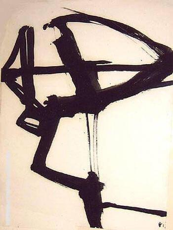 Untitled c1958 By Franz Kline