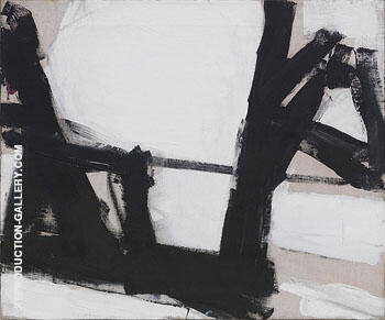 Untitled F 3070 By Franz Kline Replica Paintings on Canvas - Reproduction Gallery