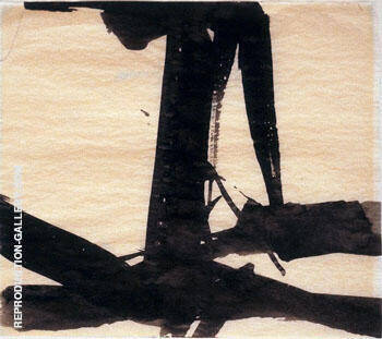 Untitled Study for Le Gros c1959 By Franz Kline - Oil Paintings & Art Reproductions - Reproduction Gallery