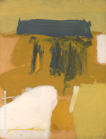 Zinc Yellow and Grey By Franz Kline - Oil Paintings & Art Reproductions - Reproduction Gallery