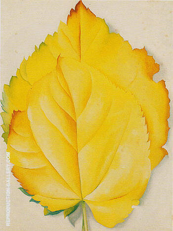 Two Yellow Leaves 1928 By Georgia O'Keeffe - Oil Paintings & Art Reproductions - Reproduction Gallery