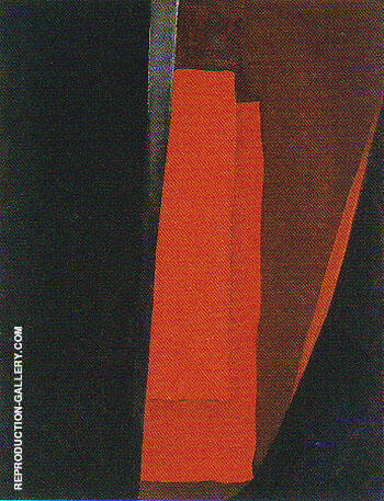 Abstraction Red and Black Night 1929 By Georgia O'Keeffe
