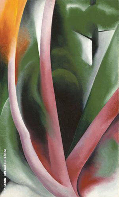 Birch and Pine Trees Pink 1925 By Georgia O'Keeffe