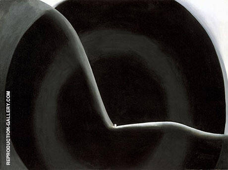 Black Abstraction 1927 Painting By Georgia O'Keeffe - Reproduction Gallery