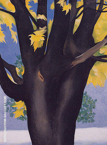 Black Maple Trunk Yellow Leaves 1929 By Georgia O'Keeffe