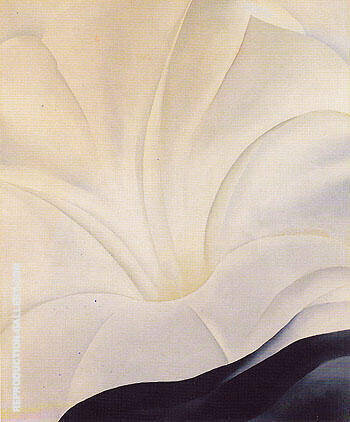 Reproduction of Black Petunia and White Morning Glory 1926 3 by Georgia O'Keeffe | Oil Painting Replica On CanvasReproduction Gallery