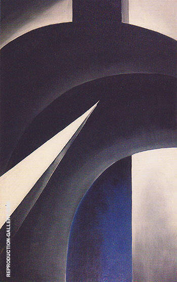 Black White and Blue 1930 By Georgia O'Keeffe - Oil Paintings & Art Reproductions - Reproduction Gallery