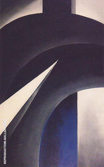 Black White and Blue 1930 By Georgia O'Keeffe