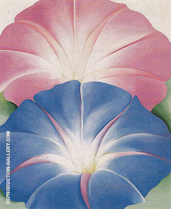 Reproduction of Blue Morning Glories New Mexico 1935 by Georgia O'Keeffe | Oil Painting Replica On CanvasReproduction Gallery
