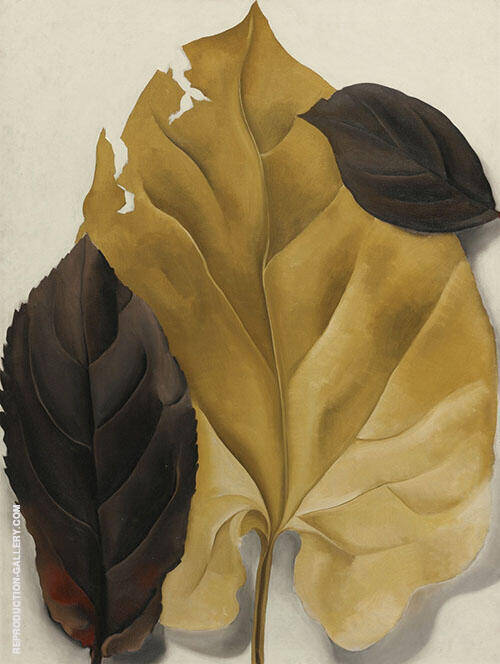 Reproduction of Brown and Tan Leaves 1928 by Georgia O'Keeffe | Oil Painting Replica On CanvasReproduction Gallery