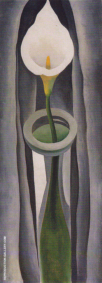 Calla Lilies In Tall Glass 1923 No 1 By Georgia O'Keeffe