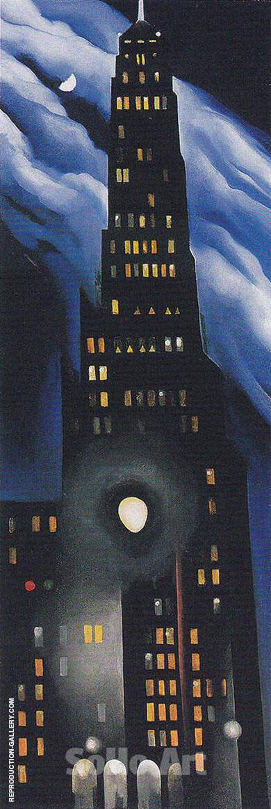 Ritz Tower Night 1928 Painting By Georgia O'Keeffe - Reproduction Gallery