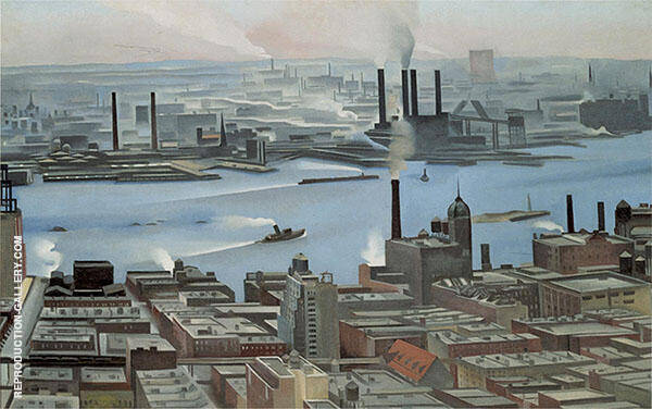 East River From Both Story Of Shelton Hotel 1928 By Georgia O'Keeffe