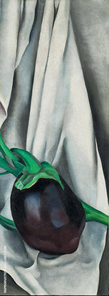 Eggplant The Plant 1924 By Georgia O'Keeffe