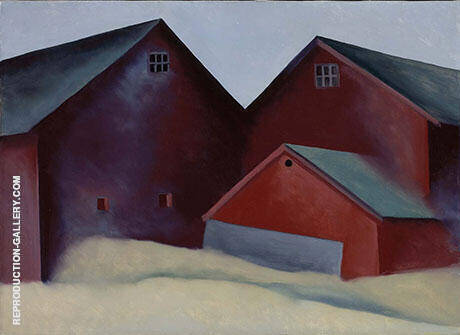Ends of Barns c1922 By Georgia O'Keeffe - Oil Paintings & Art Reproductions - Reproduction Gallery