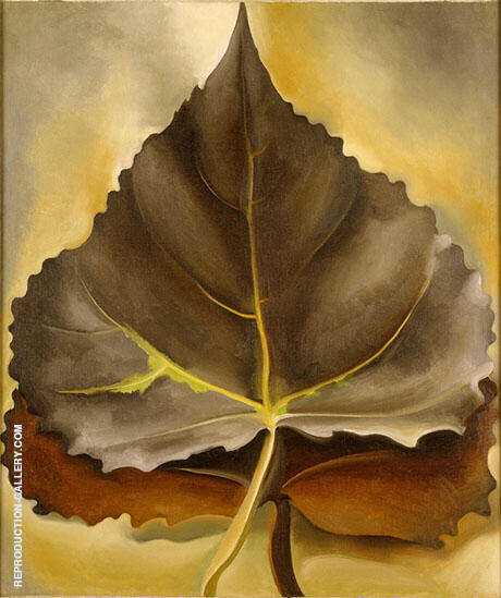 Grey and Brown Leaves 1929 By Georgia O'Keeffe Replica Paintings on Canvas - Reproduction Gallery