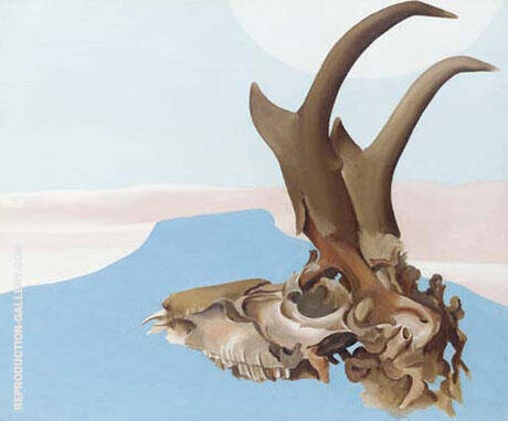 Antelope Head With Pedernal 1953 By Georgia O'Keeffe